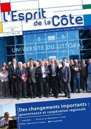 Des changements importants : - Université du Littoral Côte d'Opale