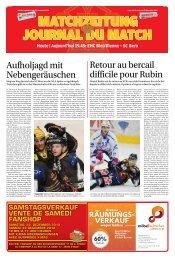 Aujourd'hui 19.45: EHC Biel/Bienne - Bieler Tagblatt