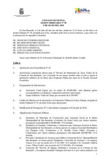 REPUBLICA DE CHILE - San Bernardo