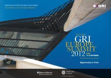 GRI EuROPE SuMMIT 2012 - Global Real Estate Institute