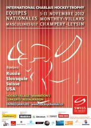 Livret de fête - International Chablais Hockey Trophy