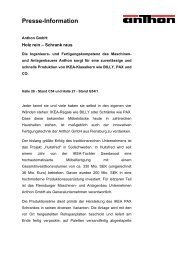 Presse-Information - Agentur Rönnau