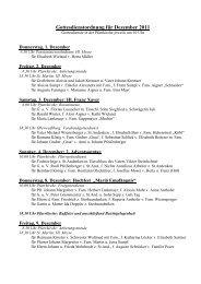 Gottesdienstordnung für Dezember 2011