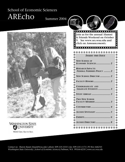 AREcho Summer 2004 - College of Agricultural, Human, and ...
