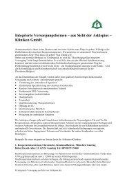 Integrierte Versorgungsformen – aus Sicht der Asklepios – Kliniken ...