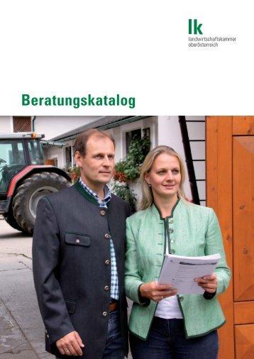 Beratungskatalog LK OÖ - Landwirtschaftskammer Oberösterreich