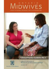 Clinical Practice Guideline No.11 - Ontario Midwives