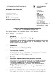 Bezirksausschuss des 2. Stadtbezirkes Landeshauptstadt ... - Rathaus