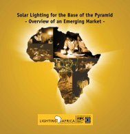 Solar Lighting for the Base of the Pyramid - Overview of an ... - IFC