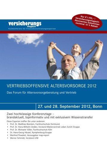 vertriebsoffensive altersvorsorge 2012