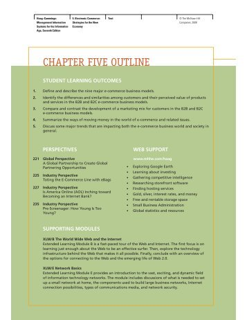 CHAPTER FIVE OUTLINE - McGraw-Hill Learning Solutions