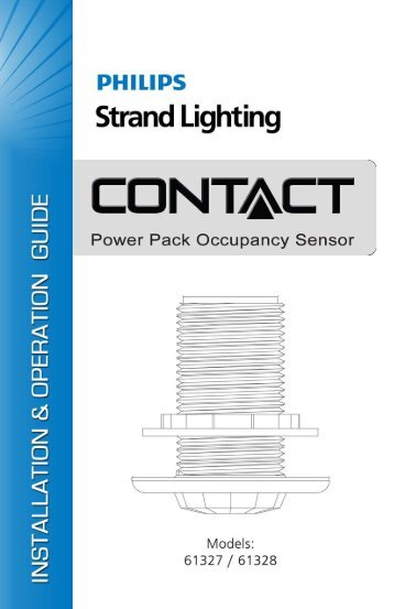 Contact Power Pack - Occupancy Sensor Install ... - Strand Lighting