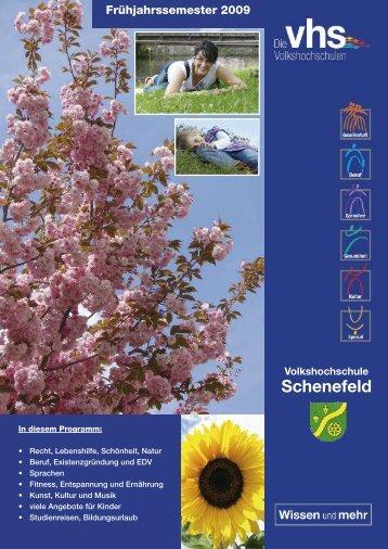 Frühjahrssemester 2009 - VHS Schenefeld