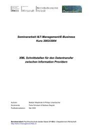 Seminararbeit I&T-Management/E-Business Kurs 2003/2004 XML ...