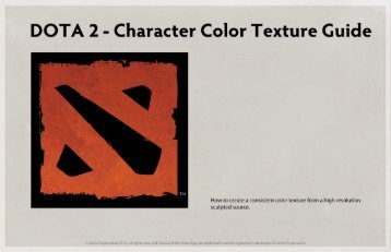 DOTA 2 - Character Color Texture Guide