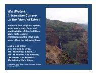 (Water): In Hawaiian Culture on the Island - Lanai Culture ...