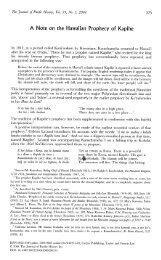 A note on the Hawaiian Prophecy of Kapihe - John Charlot