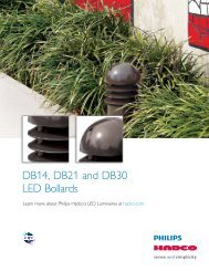 DB14, DB21 and DB30 LED Bollards - Hadco
