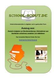 Deutsch-Aufgaben zur Berufsorientierung ... - School-Scout