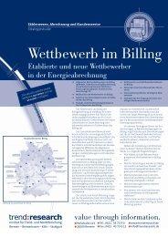 Wettbewerb im Billing - trend:research
