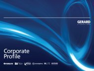 Gerard Lighting Group Limited - Corporate Profile