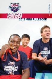 2012 Mini Rulebook - USA Swimming