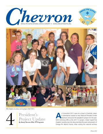 President's Project Update - Omega Phi Alpha