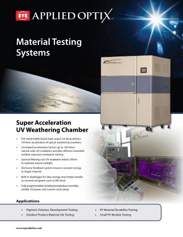Material Testing Systems - EYE Applied Optics
