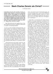 Starb Charles Darwin als Christ? - Wort und Wissen