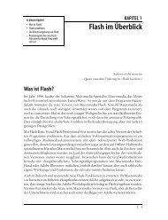 KAPITEL 1 Flash im Überblick - Lingoworld IT-Bücher