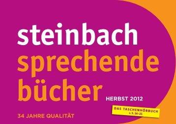 Vorschau Herbst 2012 - Steinbach Sprechende Bücher
