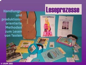 Leseprozesse - Bildungsserver Berlin - Brandenburg