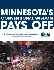 2008 Republican National Convention Impact Report - Minnesota ...