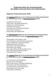 Ergebnisse Wahl des Verwaltungsrates des Spitzenverbandes Bund ...