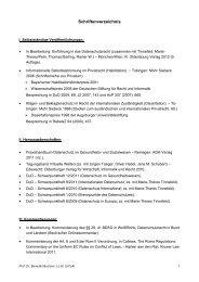 Schriftenverzeichnis