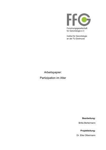 Arbeitspapier: Partizipation im Alter - Antidiskriminierungsstelle