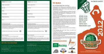 Zum Flyer der Thüringer AOK PLUS Streetball Tour