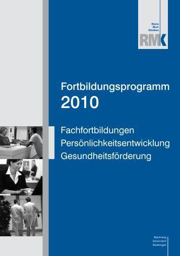 Fortbildungsprogramm 2010 - Rems Murr Kliniken