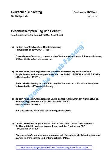 Gesetz zur strukturellen Weiterentwicklung der ... - SysPra.de