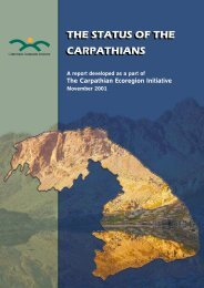 THE STATUS OF THE CARPATHIANS THE STATUS OF THE ...