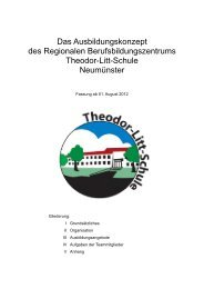 Ausbildungskonzept der Theodor-Litt-Schule