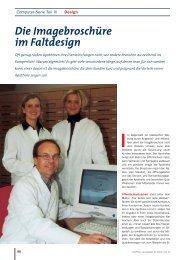 Die Imagebroschüre im Faltdesign - Die PTA in der Apotheke