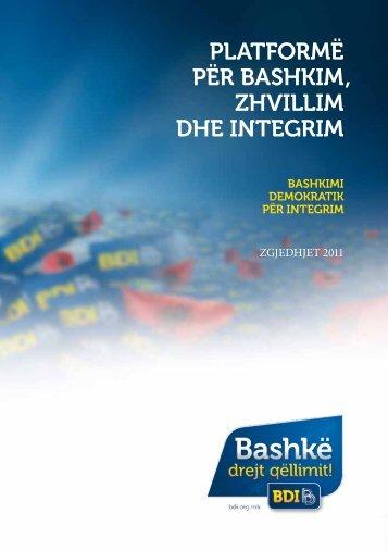 Shkarkoni Programin (PDF) - Bashkimi Demokratik për Integrim