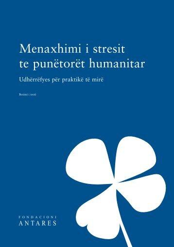 Menaxhimi i stresit te punëtorët humanitar - Antares Foundation