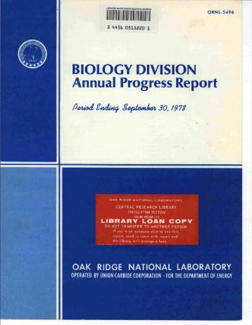 An In Vivo - Oak Ridge National Laboratory