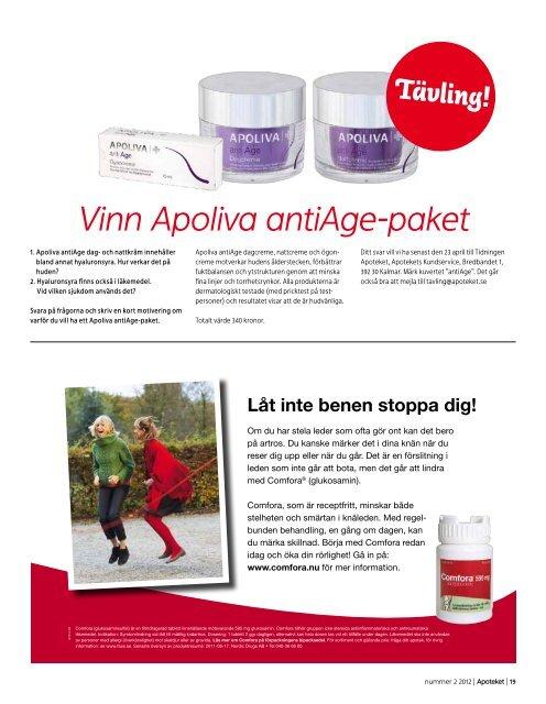 Utvalda ApoPlus-varor 10 april – 13 maj 2012 - Agneta Borgström ...