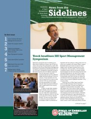 Sidelines - School of Kinesiology and Recreation - Illinois State ...