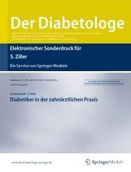 Diabetiker in der zahnärztlichen Praxis - Die Bundeszahnärztekammer