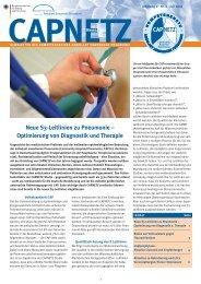 Neue S3-Leitlinien zu Pneumonie – Optimierung von ... - Capnetz