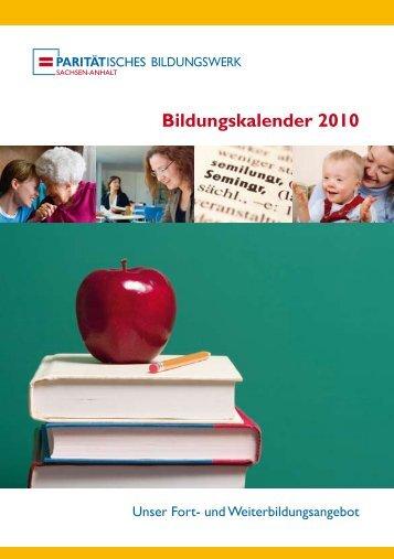 Bildungskalender 2010 - Paritätisches Bildungswerk Sachsen-Anhalt